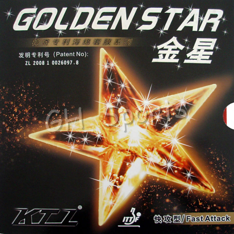 KTL GOLDEN STAR Fast Attack Pips In Table Tennis Rubber With Sponge For Ping Pong Bat