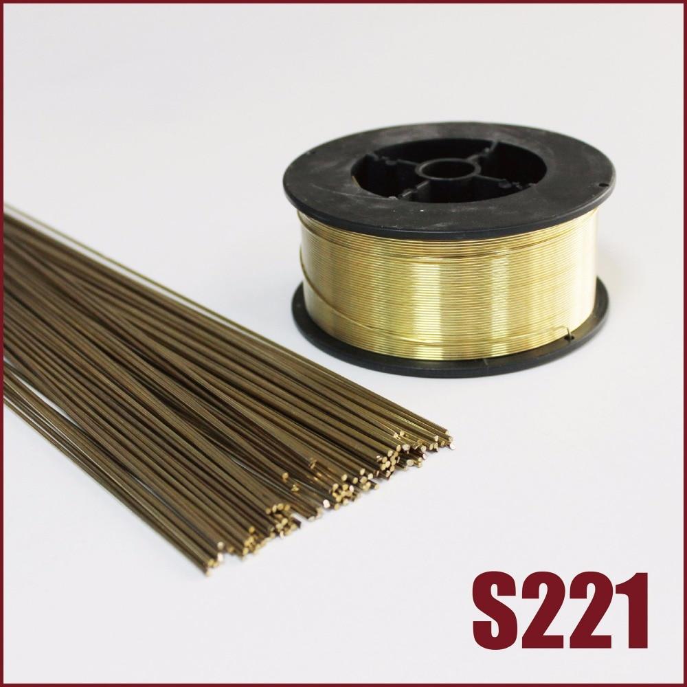 Silicio bronce varillas de soldadura tig relleno S221 gas Alambre de soldadura 1,6mm 2,5mm 3,0mm soldadura equipo de soldadura de bronce aleación de cobre
