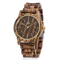 New Arrival Coffee Color Zebra Wood Watch For Men Women Top Luxury Gift Sandal Wooden MIYOTA