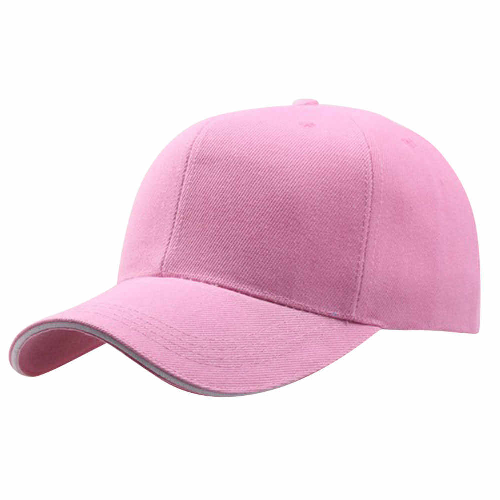 2019 Baseball Cap Women Men's Adjustable Cap Casual leisure hats Solid Color Fashion Snapback Summer Sun hat #P4