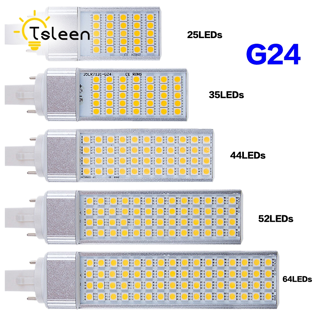 Cheap G24 LED Bulbs 220V 240V 9W 11W 13W LED Corn Bulb Lamp Light SMD 5050 Spotlight 180 Degree AC85 265V Horizontal Plug Light laptop keyboard for lg 15n540 sn5840 sg 59030 40a sn5840 sg 59030 xra black without frame korea kr br brazil