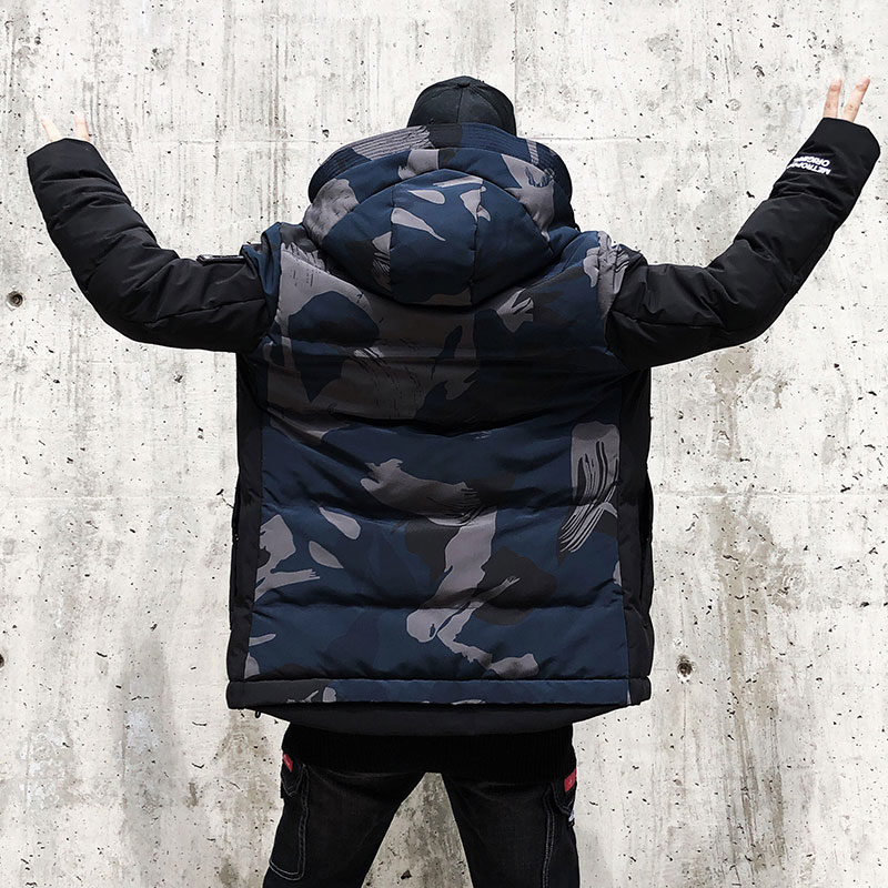 2018 Mode Winter Neue Hip Hop Jacke Männer Warme Mantel Mode Lässig Parka Verdickung Mantel Männer Für Winter