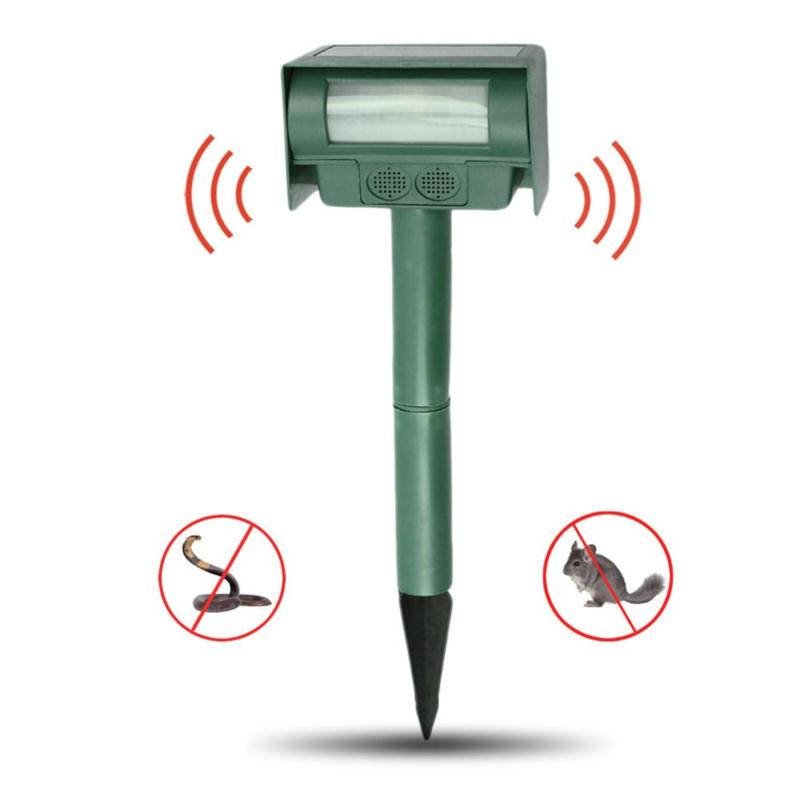 Household Solar Powered Rat Repeller Snake Rodent Repellent Device Snake Mice Dogs Cockroach Mole Insect Repeller Pest Control