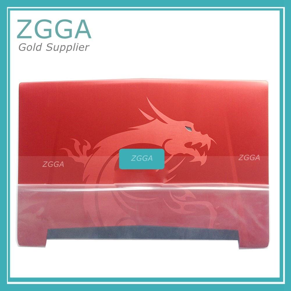 Véritable couverture arrière pour MSI GT72 1781 1782 ordinateur portable Lcd lunette Base couvercle arrière nouveau Top Case CD ROM panneau 307-781A415-Y311 Dragon rouge
