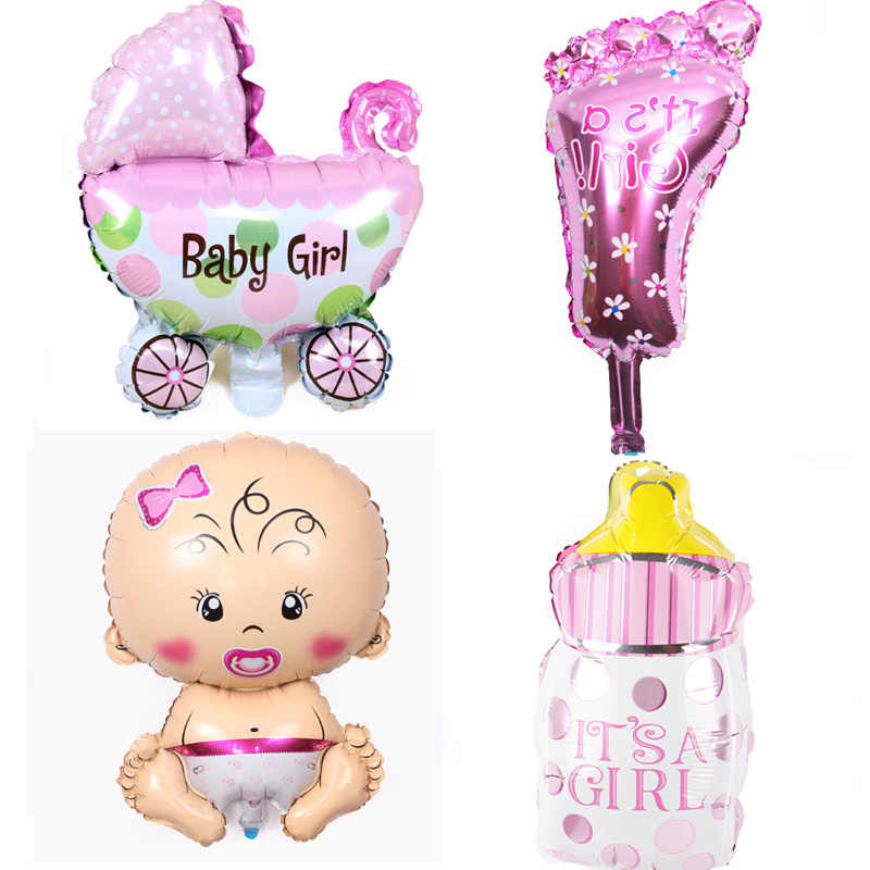4 pçs/set Anjo foil balões Do chuveiro de Bebê Recém-nascidos Das Meninas Dos Meninos da Festa de Aniversário Do Partido Dos Miúdos decoração globos de ar azul Rosa mix balões