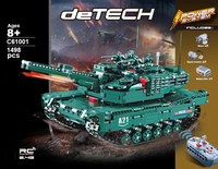 Technics modern military radio remote control M1A2 Abrams Main Battle Tank block 2in1 Panther model bricks rc toys collection