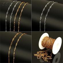 10 m/بكرة 13x4x1 مللي متر لفة الذهب اللون لهجة مجوهرات من صلب لا يصدأ صنع المعين سلسلة معدنية رابط سلسلة لقلائد أساور