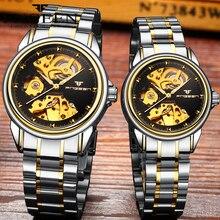 Reloj Mujer Tourbillon Skeleton Wristwatch for Women Horloge 30M Waterproof Steel Automatic