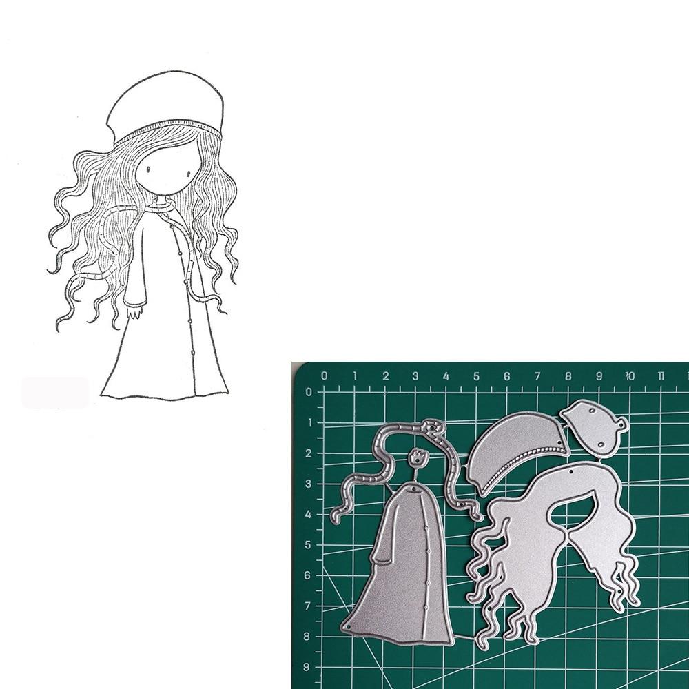 Hat Girl Metal Cutting Dies 2019 Scrapbooking Craft Dies Cut Stamps Embossing Stencils Invitation Card Making