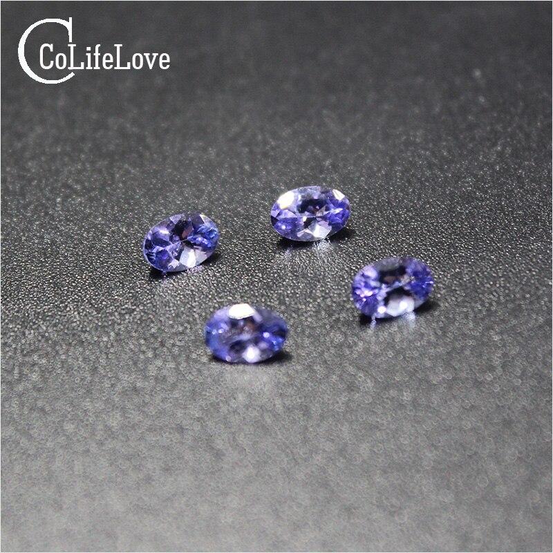 0.7 ct tanzanite naturelle lâche pierre précieuse pour anneau ou pendentif 5mm * 7mm VS grade ovale coupe tanzanite pierre lâche - 6