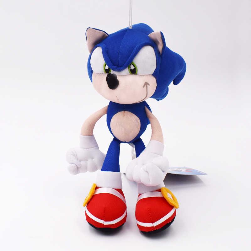 Alta Qualidade 19 cm Azul Sonic Sonic Plush Doll Brinquedo Macio Bichos de pelúcia Personagens Brinquedos Infantis brinquedos Bonecas Presentes Livre grátis