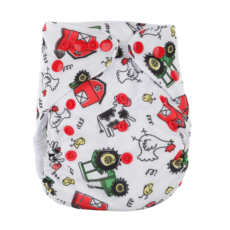 Wholesale Newborn Baby Reusable 10Pcs/Bag Cloth Diaper Cover Diapers Couche Fralda Color Button Baby Wizard Diapers Gladbaby