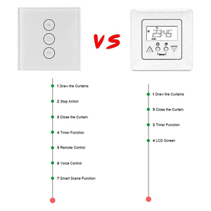 Image 3 - EU US WiFi Electrical Blinds Switch Touch APP Voice Control By Alexa Echo AC110 To 240V For Mechanical Limit Blinds Motor