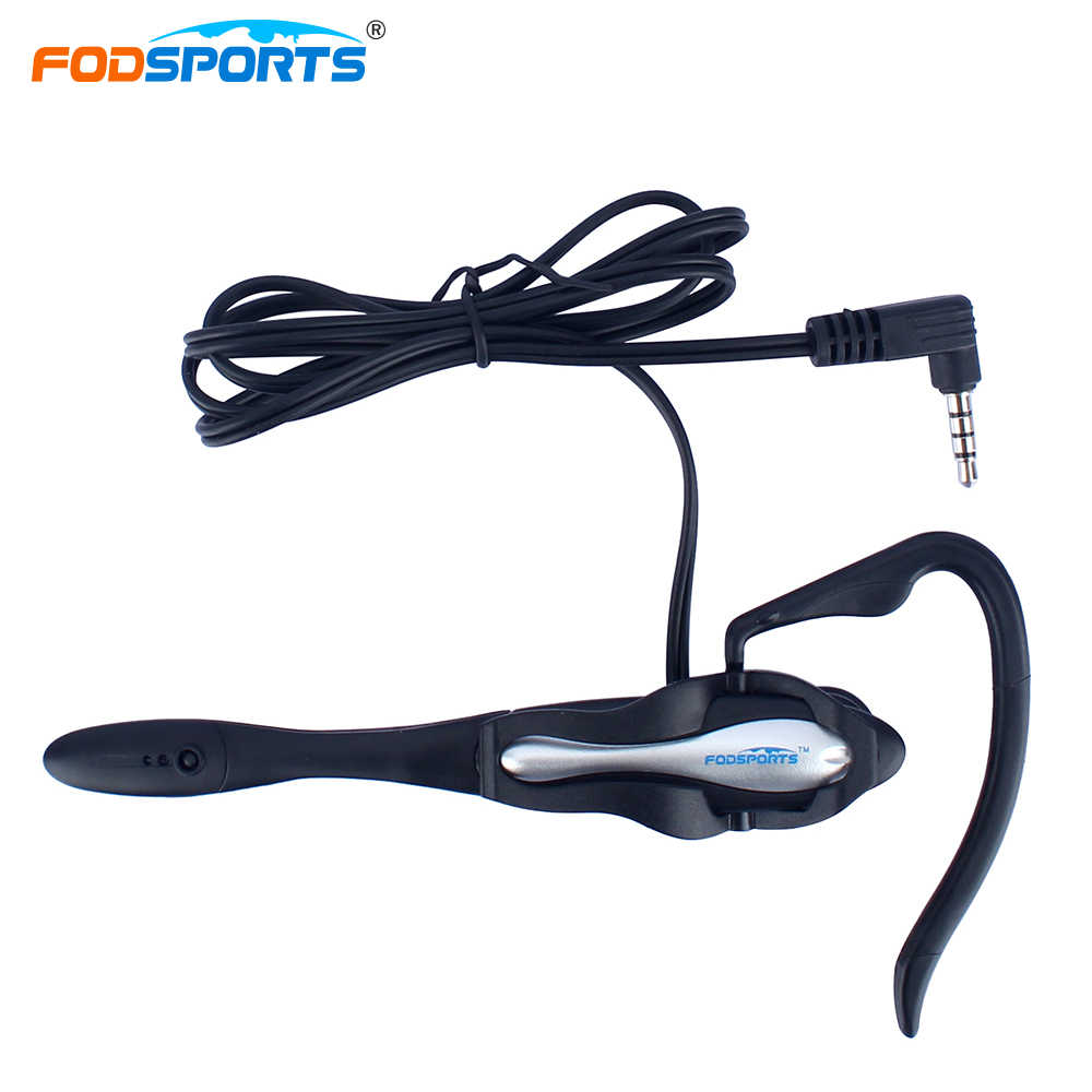 FodSports V4 V6 Pro Intercom Headphone for Football Referee Coach Judgers Professional Full Duplex Two-way Interphone Earhook