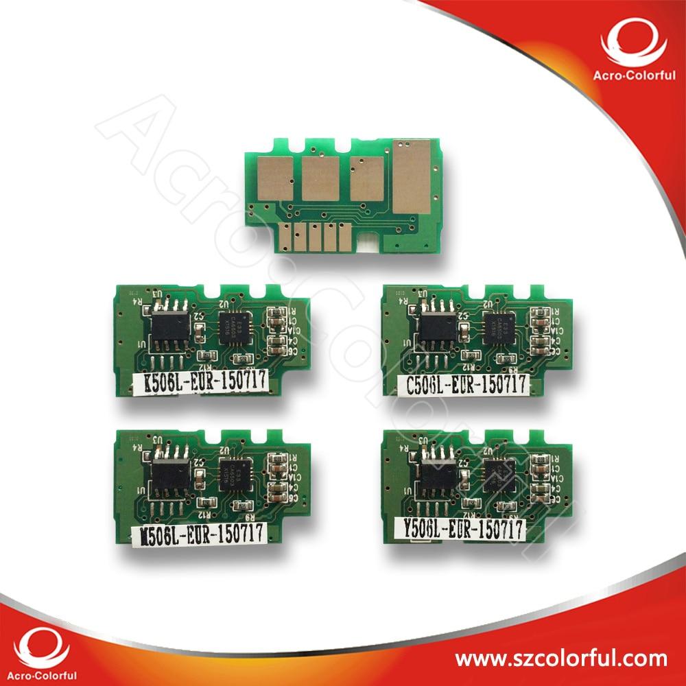 Clt-506 Cartucho Chip para Samsung CLP-680/680DW/680DN/CLX-6260FR/6260FD/6260FW // 6260ND/6260NR Chips de Impressora chip de Redefinição de toner