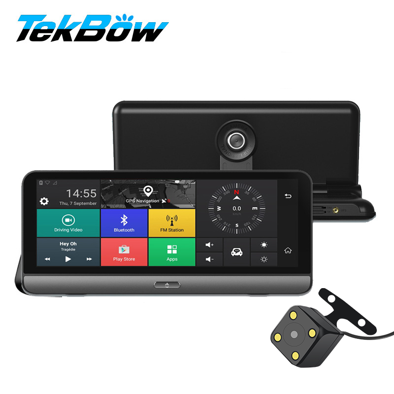 Tekbow '4g Auto DVR Video Recorder Cam ADAS Android 5.1 con il GPS Automobile Specchio Video Recorder Macchina Fotografica di Rearview dash Cam