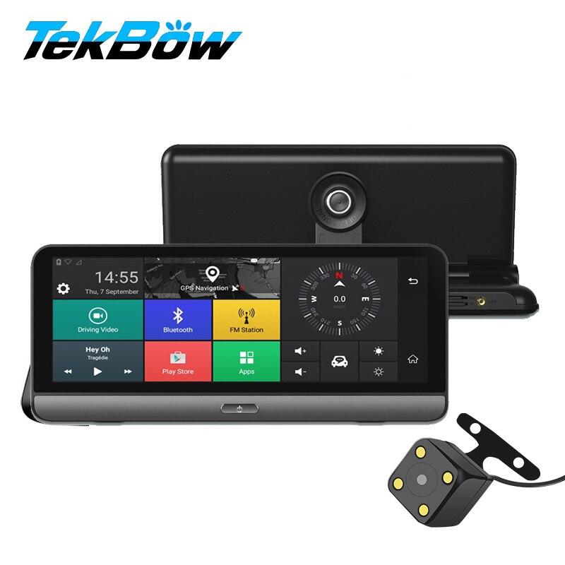 Tekbow 8' 4g Voiture DVR Enregistreur Vidéo Cam ADAS Android 5.1 avec GPS Automobile Miroir Enregistreur Vidéo Caméra de Recul dash Cam