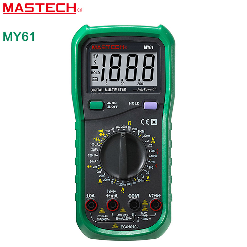MASTECH MY61 Electric Handheld DMM Frequency Capacitance Temperature Ammeter Multimetro Testers Meters  цены