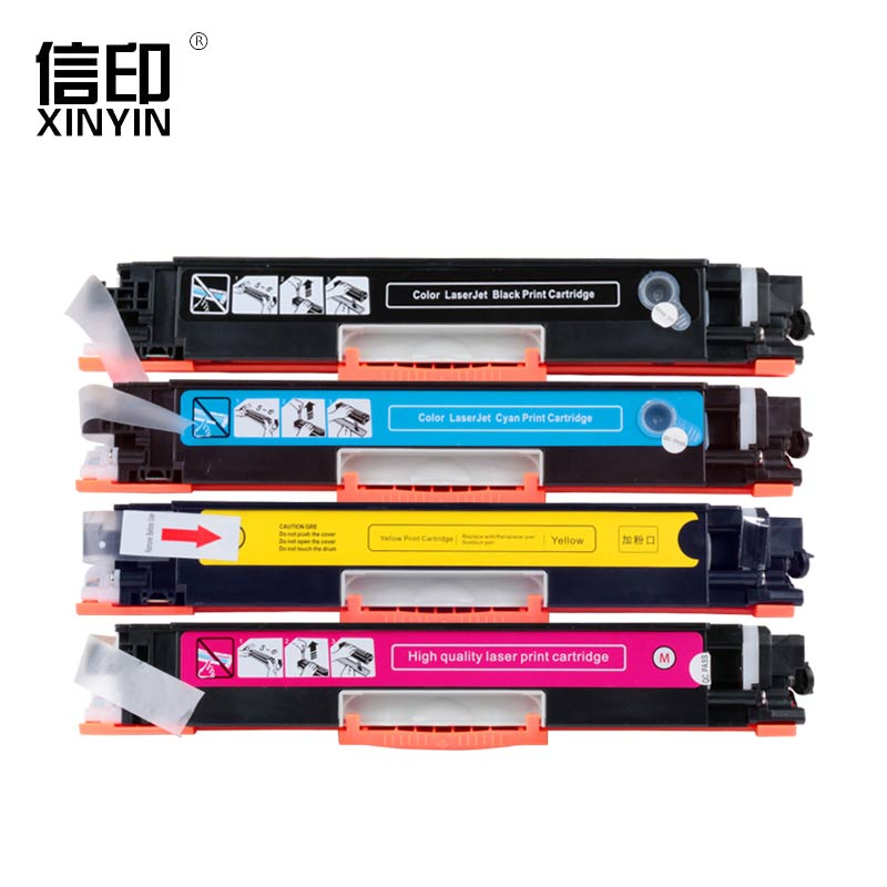 Re-Manufactured 4 Pcs Full CF350A--CF353A Toner Cartridge High-definition Printing For HP Color Laserjet MFP M176/M177(130A) inkarena compatible cf350a cf351a cf352a cf353a 130a color toner cartridge for hp color laserjet pro mfp m176n m176 m177fw m177