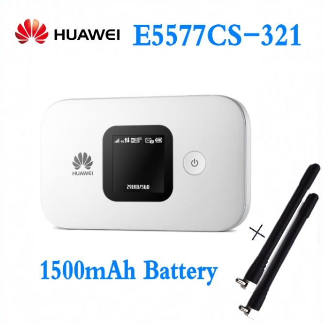Unlocked Huawei E5577 e5577cs-321 3G 4G LTE Cat4 Mobile Hotspot Wireless Router wifi huawei E5577s-321 1500mAh +2pcs antenna цена