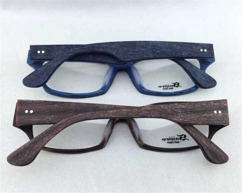 Vintage Rectangle Wood Spectacle Handmade Ultra light Eyeglasse ...