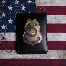 Fast & Furious – 5 Badges d'officier spécial de Police, porte-cartes d'identité avec chaîne, cadeau 1:1, Collection Cosplay
