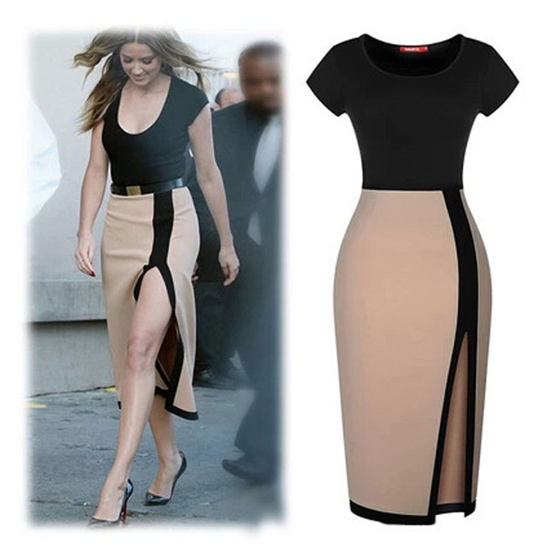 Women Dress 5 Size Plus Size Xxl Vestido Evening Party Dresses Brief Classic Style Women