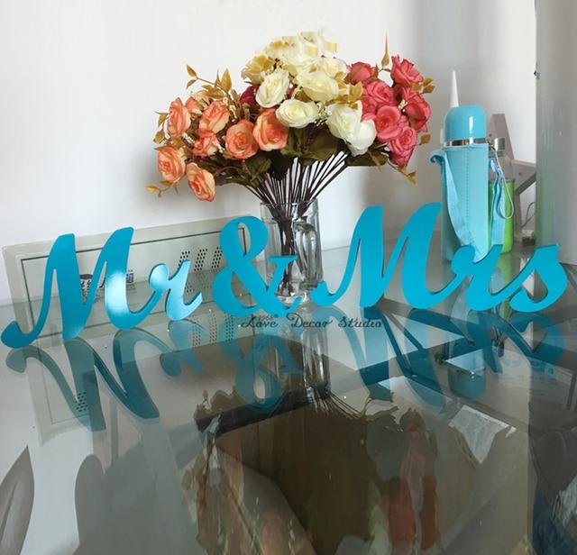 Blue sky Mr & Mrs Sign Mr and Mrs freestanding home decor wedding ...