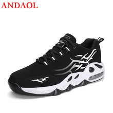 ANDAOL Men's Casual Shoes Top Quality Mesh Breathable Lace-Up Striped Sneakers Luxury Soft Comfortable Non-Slip Campus Trainers недорого