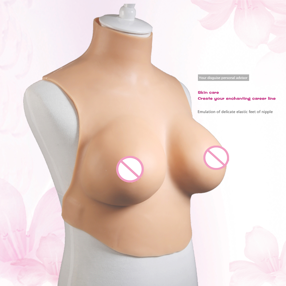 Transgender False Silicone breast forms crossdresser artificial silicone fake Boobs G Cup shemale pechos crossdressing cosplay