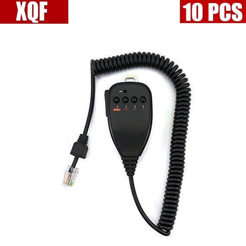 XQF 10PCS MC-44 Handheld Speaker Microphone For Kenwood Radio TM-261 TM-271 TM-461 TM-471