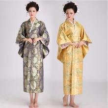купить Woman Slim Japanese Traditional Costume Female Kimono Women Yukata Vintage Evening Dress Cosplay Costume 18 дешево