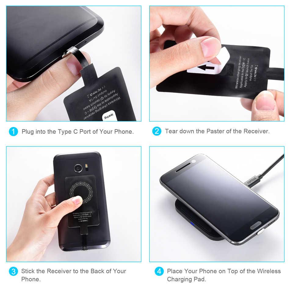Choetech USB Tipe-C Ultra Tipis Wireless Pengisian Receiver Patch Module Chip untuk LG G5/Nexus 5X Ponsel charger Telepon
