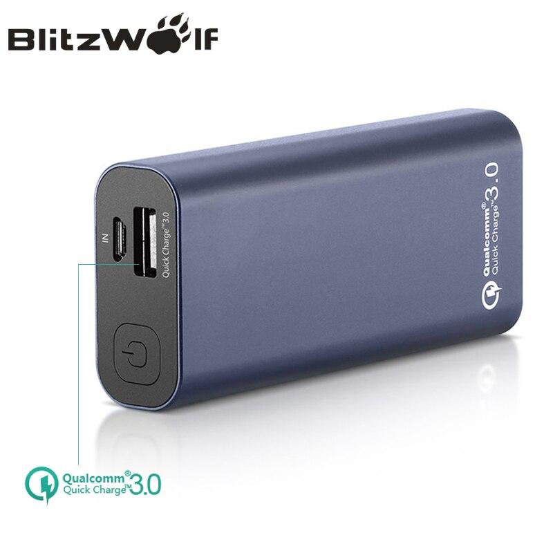 imágenes para BlitzWolf Teléfono QC3.0 BW-P4 5200 mAh Banco Portable de la Energía de Carga Rápida Banco de la Energía de Batería Externa Para el iphone Para Xiaomi Powerbank