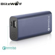 Banco de Potência Portátil do Poder Externa para o para o Iphone Blitzwolf Bw-p4 Qc3.0 Quick Charge Telefone 5200 MAH Portátil Banco do Poder de Bateria Iphone para Xiaomi Powerbank