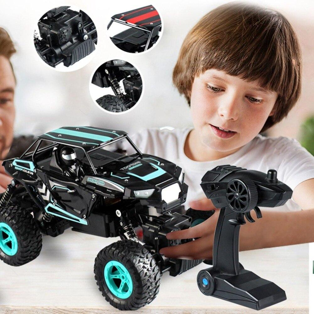 OCDAY D819 1/14 2.4 GHz RC Rock chenille 6 roues motrices haute vitesse voiture de course Buggy escalade tout-terrain voiture camion jouet pour enfants