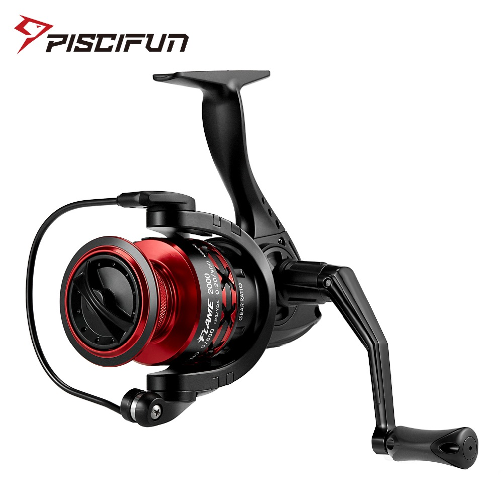 Piscifun Flame Spinning Reel Ultra Light Hollow Graphite Body X Shape 5.2:1 10 BB 9KG Max Drag 2000 3000 4000 5000 Fishing Reel seaknight spinning reel cm ii 2000 3000 4000 5000 max drag 13kg 9 1bb 5 5 1 carbon drag spinning fishing reel for carp fishing