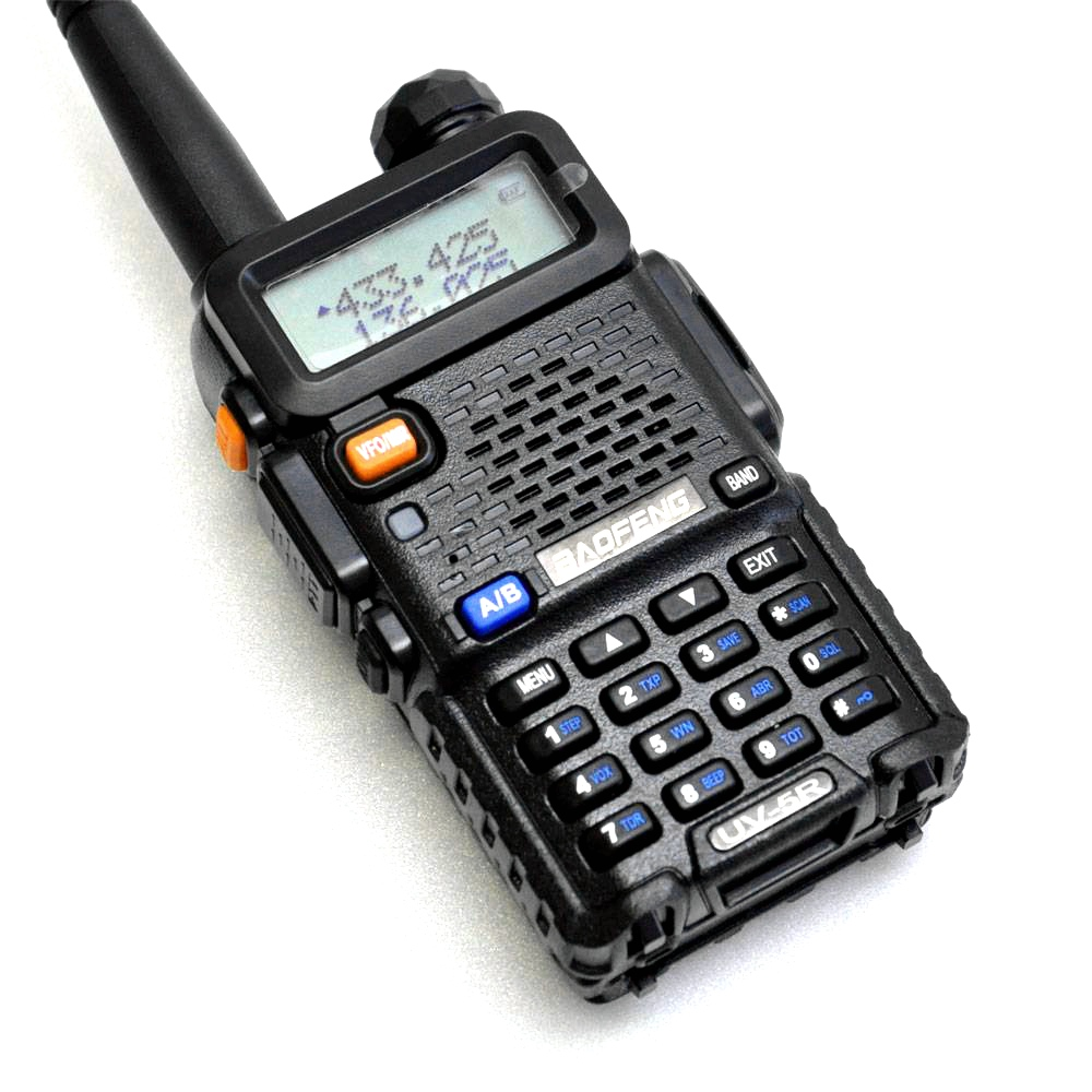BaoFeng UV-5R Walkie Talkie 5 colori Professionale CB Radio Baofeng UV5R Transceiver 128CH 5 W VHF e UHF Palmare per Sport all'aria aperta