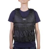 50kg Loading Weighted Vest exercise sand weight vest Boxing Training Equipment Adjustable Waistcoat Black Jacket Swat Clothing