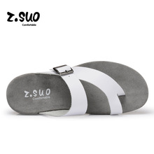 Z'Suo Good Quality Daily Life Men's Sandal Walking Summer Cool Slippers Soft Comfortable Genuine Leather Beach Shoes SD024