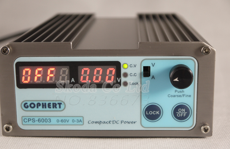 precision Compact Digital Adjustable DC Power Supply CPS6003 OVP/OCP/OTP low power 60V3A 110V-220V 0.01V/0.01A With EU Cable cps 6003 60v 3a dc high precision compact digital adjustable switching power supply ovp ocp otp low power 110v 220v