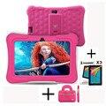 DragonTouch Y88X Plus 7-дюймовый детский планшет для детей с четырехъядерным процессором Android 7 1 и сумкой для планшета  Защитная пленка для экрана  пла...