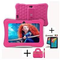 Ejderha Dokunmatik Y88X Artı 7 inç Çocuk Tablet Çocuk için Quad çekirdek Android 5.1 + Tablet çantası + Ekran Koruyucu için En Iyi hediyeler çocuk
