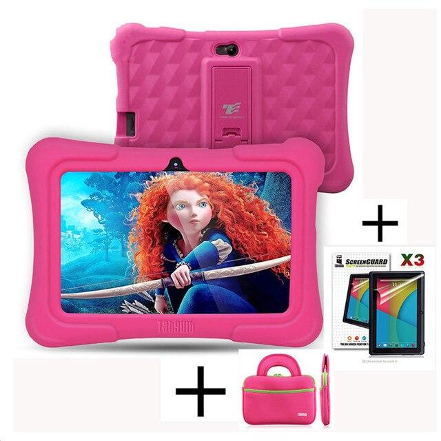 Дракон touch Y88X плюс 7 дюймов Детские планшеты для детей ren Quad Core Android 5.1 + планшетная сумка +защита экрана лучшие подарки для детей