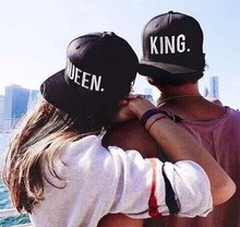 Hot Sale KING QUEEN Embroidery font b Snapback b font Hat Acrylic Men Women Couple Baseball