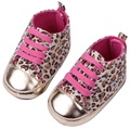 Fashion Toddler Baby Girl Shoes Brand Leopard Non-slip Infant Baby First Walkers Newborn Baby Girl Crib Shoes