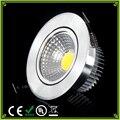1 pcs LED Downlights 3 W 6 W COB Levou Teto Do Banheiro Lâmpada AC85-265V Quente/Frio Branco Regulável Led lâmpada de Iluminação