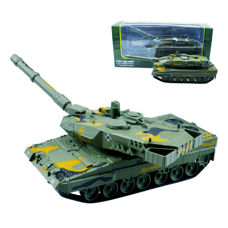 Alloy military panther 2A6 main battle military Series tank car child boy kid toy model 1:40 Birthday New Year gift Collection