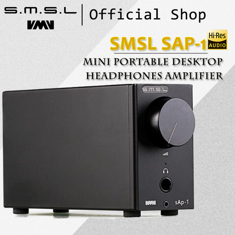 SMSL SAP-1 Mini Portable Desktop Headphones Amplifier 110V/220V PC MP3 6.5mm Output Interface with 6.5mm to 3.5mm Interface