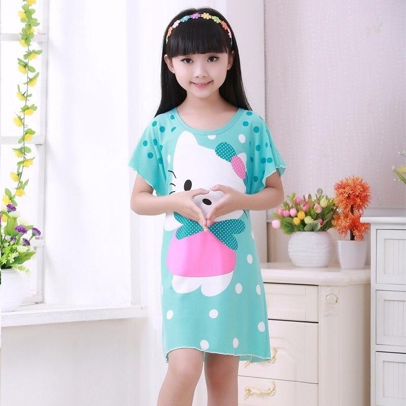 Girl Home Clothes 3-12Y New 2018 Summer & Spring Style Girl Nightgowns Dress Children Cloth Girls Sleepwear Kids Girls Princess